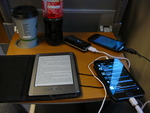 Anker Astro, Galaxy Note, Galaxy Nexus, Kindle 4, Kaffee, Cola ;-)
