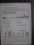 Kindle Paperwhite 3 - Schriftauswahl