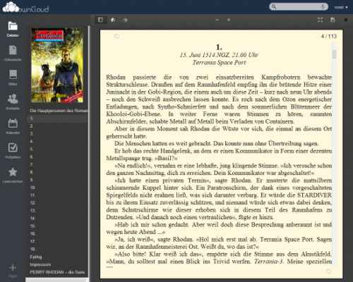 ownCloud eBook Reader