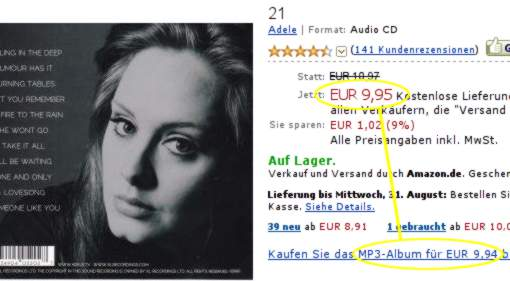 Adele 21 bei Amazon