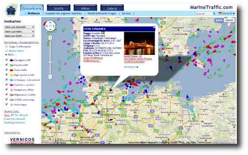 Screenshot MarineTraffic.com