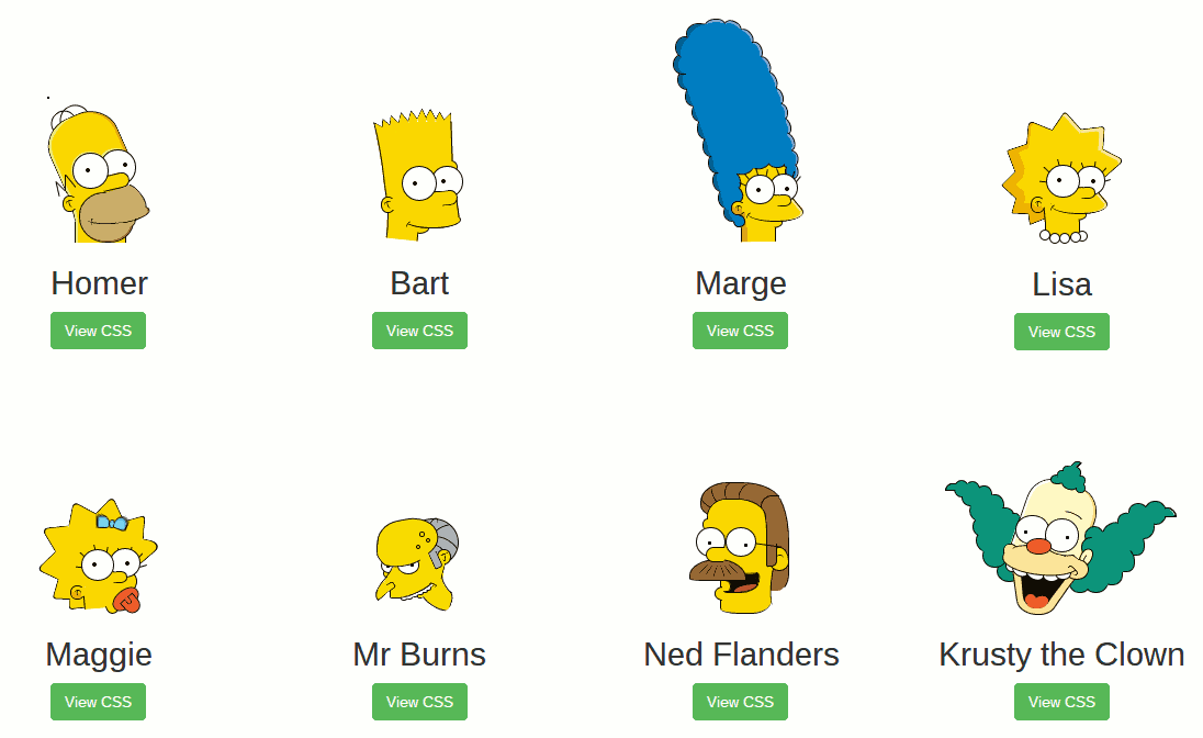 Die Simpsons in CSS